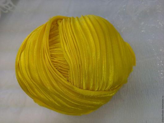 Для украшений ручной работы. Ярмарка Мастеров - ручная работа. Купить Ленты Шибори Silk Ribbons Shibori №15 Крыло канарейки. Handmade.