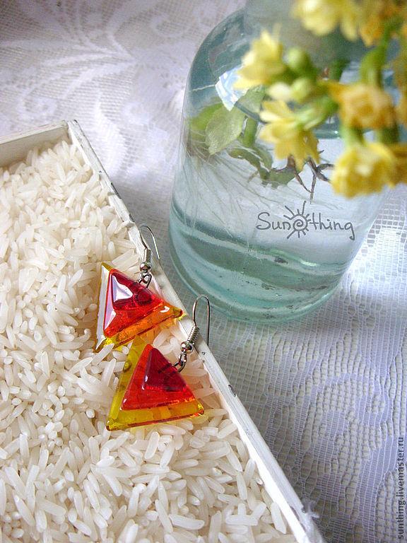 Earrings 'Triangle', Earrings, St. Petersburg,  Фото №1