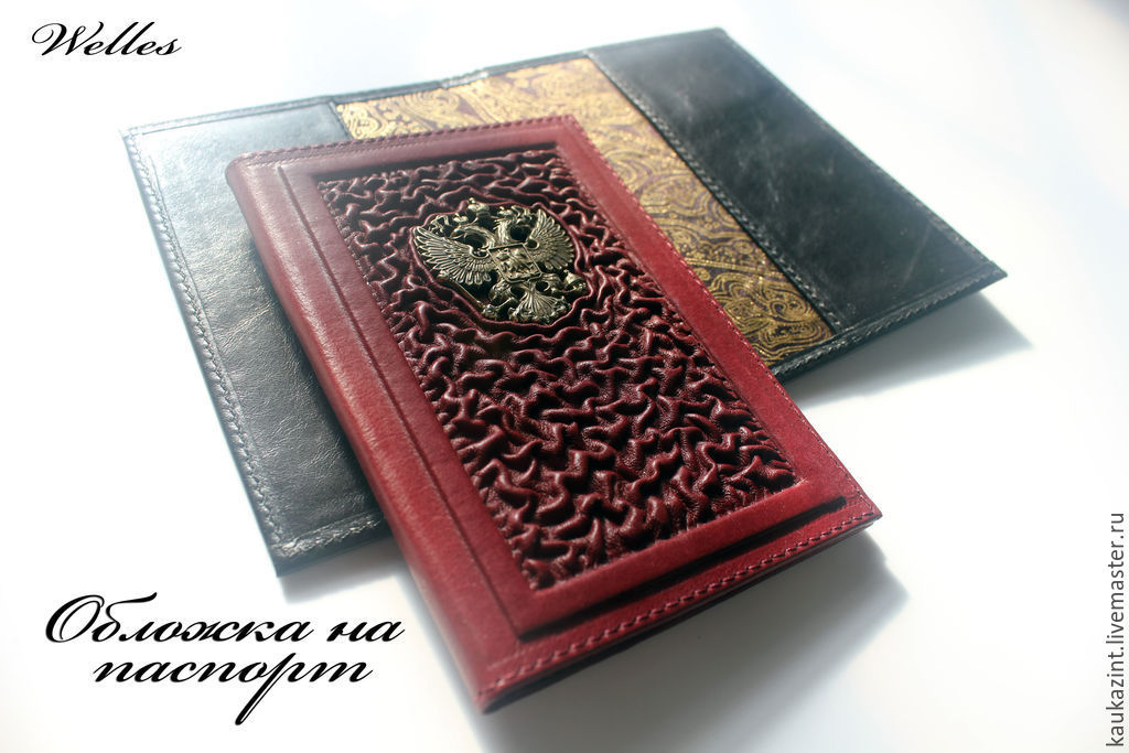 b6c5a4581001 Обложка, ручная работа, обложка для паспорт ручной работы, Кожаная обложка,  Кожаный блокнот Кожаные аксессуары ...