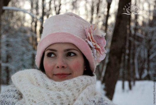 Шляпы ручной работы. Ярмарка Мастеров - ручная работа. Купить Зефир. Валяная шляпка.. Handmade. Бледно-розовый, женская шляпка