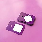 Материалы для творчества ручной работы. Ярмарка Мастеров - ручная работа фиолетовые мини-бирки. Handmade.
