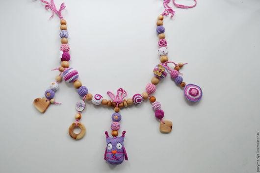 Развивающие игрушки ручной работы. Ярмарка Мастеров - ручная работа. Купить Подвеска на кроватку/коляску для девочки. Handmade. Комбинированный, подвеска на коляску