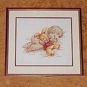 """Картины и панно ручной работы. Ярмарка Мастеров - ручная работа Вышивка крестом """"Дочурка"""". Handmade."""