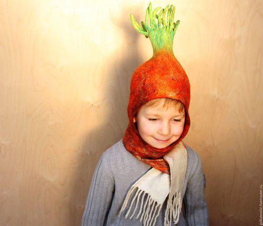 `Луковка` шапка войлочная. Детские головные уборы.Купить на Ярмарке Мастеров. Авторская ручная работа. Galkina Natasha (galkatextile).