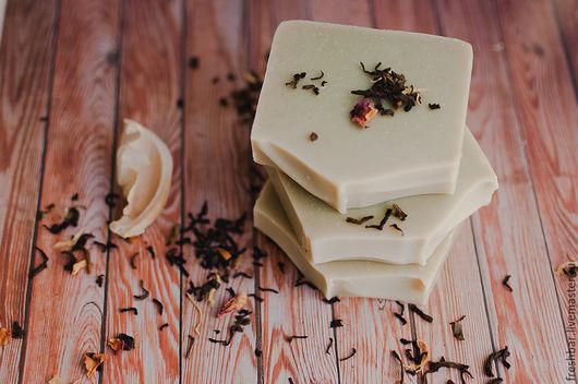 """Мыло ручной работы. Ярмарка Мастеров - ручная работа. Купить """"Зеленый чай"""" натуральное мыло с нуля. Handmade. Зеленый"""