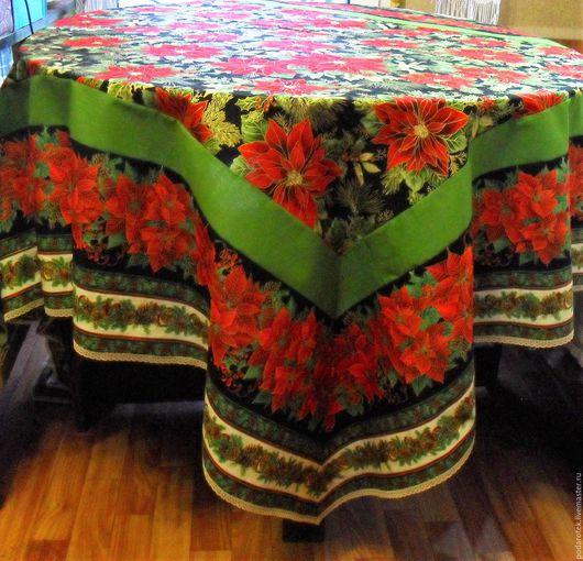 скатерть, новогодний подарок, новогодняя скатерть, сервировка стола, новогоднее украшение