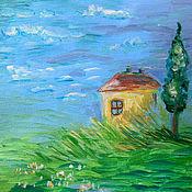 Картины и панно ручной работы. Ярмарка Мастеров - ручная работа Картина Домик. Handmade.