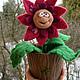 """Персональные подарки ручной работы. Заказать Подарок на 8 марта игрушка войлочная """"Волшебный цветок"""". Мягкая красота. Ярмарка Мастеров."""