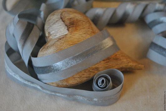 Шитье ручной работы. Ярмарка Мастеров - ручная работа. Купить Лента с бархатной полосой Мышиный (Тай). Handmade. Лента