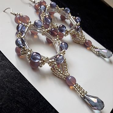 Decorations handmade. Livemaster - original item Long earrings light and delicate Caramel. Handmade.