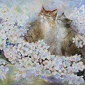 Картины и панно ручной работы. Ярмарка Мастеров - ручная работа Мурлыкает весна. Handmade.
