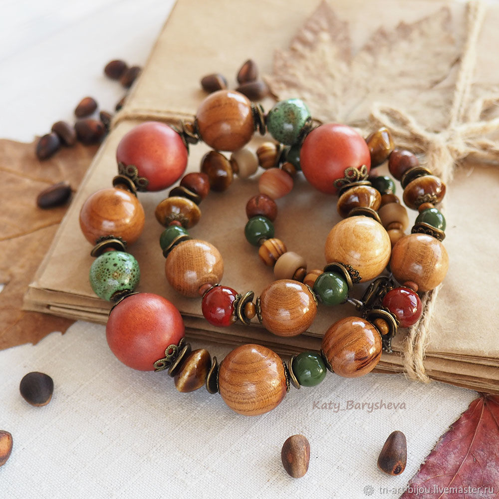 Beads made from natural materials, Necklace, Sochi,  Фото №1