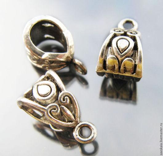 "Бейлы античное серебро с узором "" Сердце """