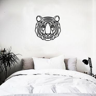 Для дома и интерьера ручной работы. Ярмарка Мастеров - ручная работа Декор на стену из металла-голова ТИГРА. Handmade.