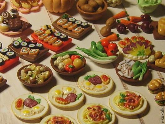 Еда ручной работы. Ярмарка Мастеров - ручная работа. Купить Для Sylvanian  Hause. Handmade. Миниатюра, кукольная еда