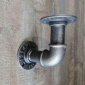 Для дома и интерьера handmade. Livemaster - original item Bracket for a shelf made of pipes in the Loft style, Industrial 10 cm.. Handmade.