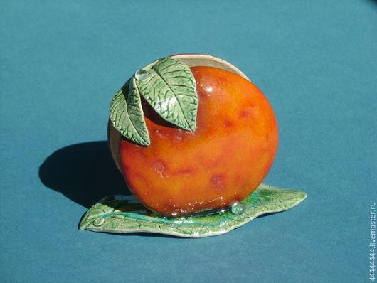 Кухня ручной работы. Ярмарка Мастеров - ручная работа. Купить салфетницы Оранжевое настроение керамика. Handmade. Салфетница, листик
