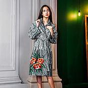 """Пальто ручной работы. Ярмарка Мастеров - ручная работа Пальто-халат """"Тюльпаны"""". Handmade."""