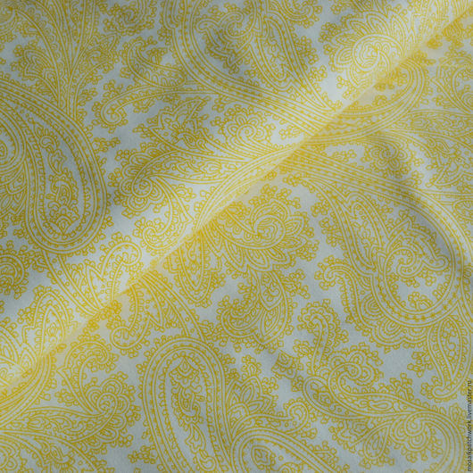 """Шитье ручной работы. Ярмарка Мастеров - ручная работа. Купить Хлопок ткань для пэчворка """"Желтые узоры"""". США. Handmade. Желтый"""