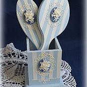 Сувениры и подарки ручной работы. Ярмарка Мастеров - ручная работа Зеркало и расческа в подставке. Handmade.