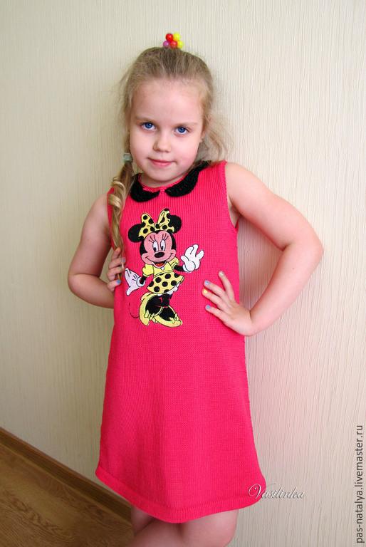 """Одежда для девочек, ручной работы. Ярмарка Мастеров - ручная работа. Купить Вязаное летнее платье для девочки """"Минни Маус"""". Handmade."""