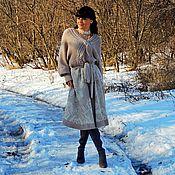 Одежда ручной работы. Ярмарка Мастеров - ручная работа Зимнее вязаное платье (№227). Handmade.