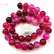 Материалы для творчества ручной работы. Ярмарка Мастеров - ручная работа Агат 37 камней набор розовый бусины шар 10 мм гладкие. Handmade.