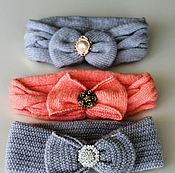 Шапка ручной работы. Ярмарка Мастеров - ручная работа Шапка: Вязаная повязочка на голову. Handmade.