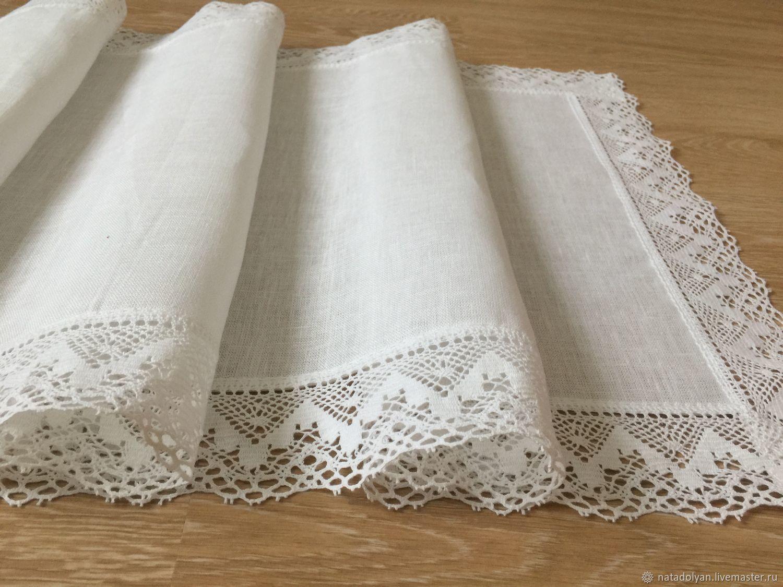 Path of flax ' Festive White', Tablecloths, Ivanovo,  Фото №1