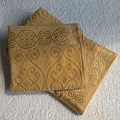 Для дома и интерьера handmade. Livemaster - original item Towel 50x90cm dark gold. Handmade.
