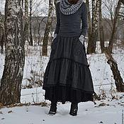 """Одежда ручной работы. Ярмарка Мастеров - ручная работа Юбка в стиле бохо с кармашками """"Зимние цветы"""". Handmade."""