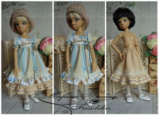 Одежда для кукол ручной работы. Ярмарка Мастеров - ручная работа. Купить Нарядное платье 3. Одежда для куклы БЖД.. Handmade.