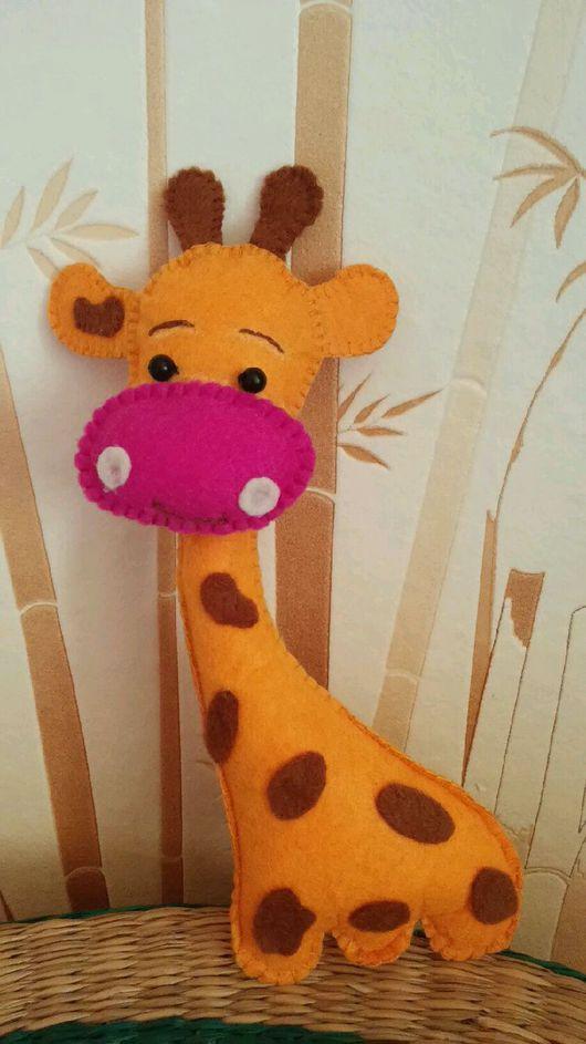 Игрушки животные, ручной работы. Ярмарка Мастеров - ручная работа. Купить Жираф из фетра. Handmade. Жираф, жирафик, жирафы