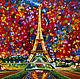 Пейзаж ручной работы. Ярмарка Мастеров - ручная работа. Купить Париж. Handmade. Картина в подарок, импрессионизм, холст на подрамнике