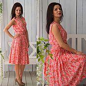 Одежда ручной работы. Ярмарка Мастеров - ручная работа Платье Мэри - короткое платье, летнее платье, платье миди. Handmade.