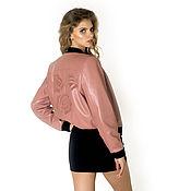 Одежда ручной работы. Ярмарка Мастеров - ручная работа Куртка женская «бомбер» 44 р-р, цвет «вялая роза»  Модель 8119. Handmade.