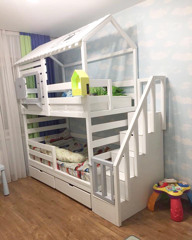 Детская ручной работы. Ярмарка Мастеров - ручная работа. Купить Детская кроватка домик Для Двоих. Handmade. Домик, кроватка