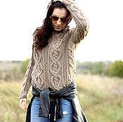 Одежда ручной работы. Ярмарка Мастеров - ручная работа Теплый свитер с рельефным узором. Handmade.