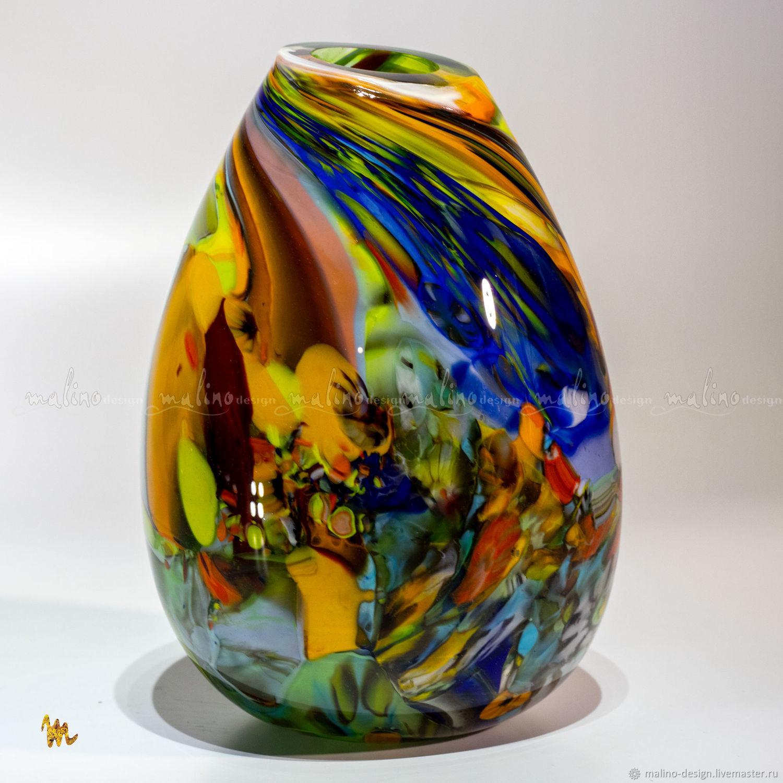 Стеклодувная ваза КокТейль-13. md-vs-cok-13