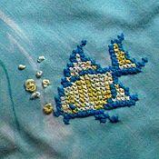 Для дома и интерьера ручной работы. Ярмарка Мастеров - ручная работа Прихватки с вышивкой Рыбка. Handmade.