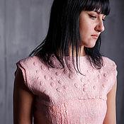 """Одежда handmade. Livemaster - original item Валяное платье """"Пыльная роза"""". Handmade."""