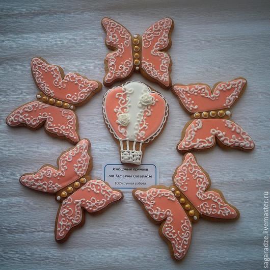 Кулинарные сувениры ручной работы. Ярмарка Мастеров - ручная работа. Купить Пряники Коралловая нежность. Handmade. Коралловый, пряники москва