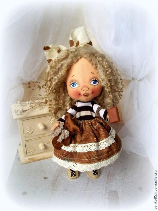 Коллекционные куклы ручной работы. Ярмарка Мастеров - ручная работа. Купить ЛЁЛЯ. Handmade. Коричневый, кукла для девочки, подарок на новый год