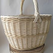 Для дома и интерьера handmade. Livemaster - original item In stock! Basket woven from willow vine