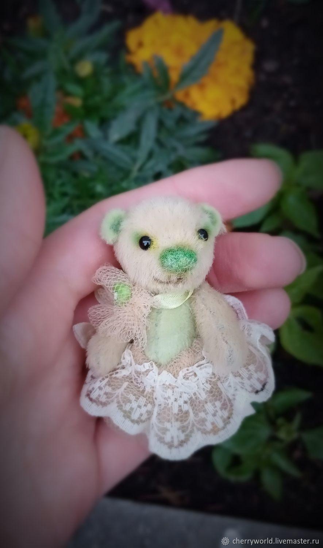 Маленький мишка Барышня 5,5 см. Мини мишка. Миник, Игрушки, Москва, Фото №1