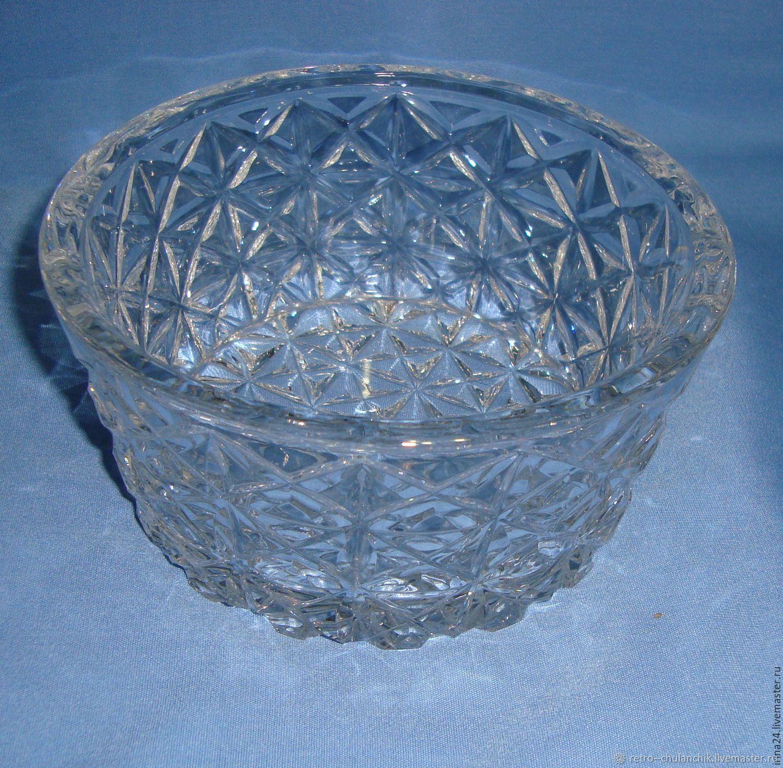 The Crystal bowl USSR, Vintage Gus - Crystal, 70-e, Vintage kitchen utensils, Istra,  Фото №1