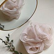 Украшения handmade. Livemaster - original item Silk puff barrette. Handmade.