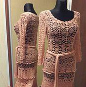 Одежда ручной работы. Ярмарка Мастеров - ручная работа теплое платье в пол. Handmade.