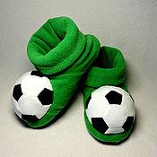 Обувь ручной работы handmade. Livemaster - original item Football Slippers. Handmade.