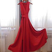 Одежда ручной работы. Ярмарка Мастеров - ручная работа Шелковое платье с юбкой полусолнце. Handmade.